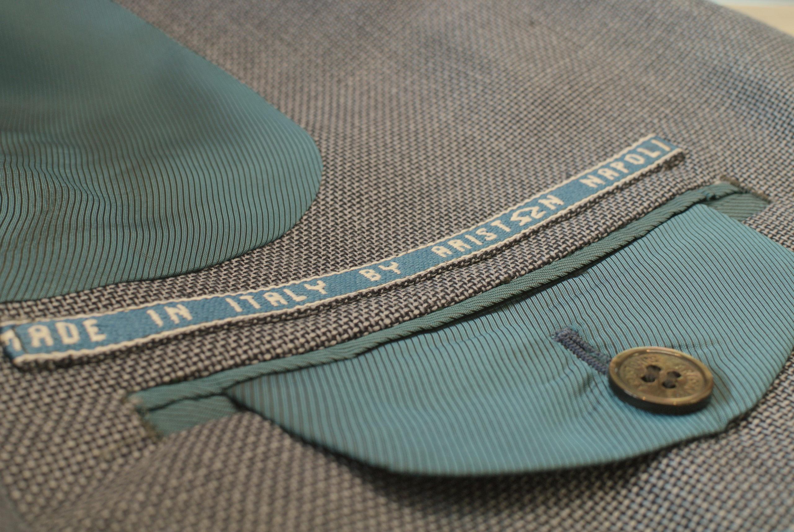 服地にこだわりながら「耳」を使い裏側のお仕立てを愉しむ伊・アリストン社ウール&モヘア夏のジャケット
