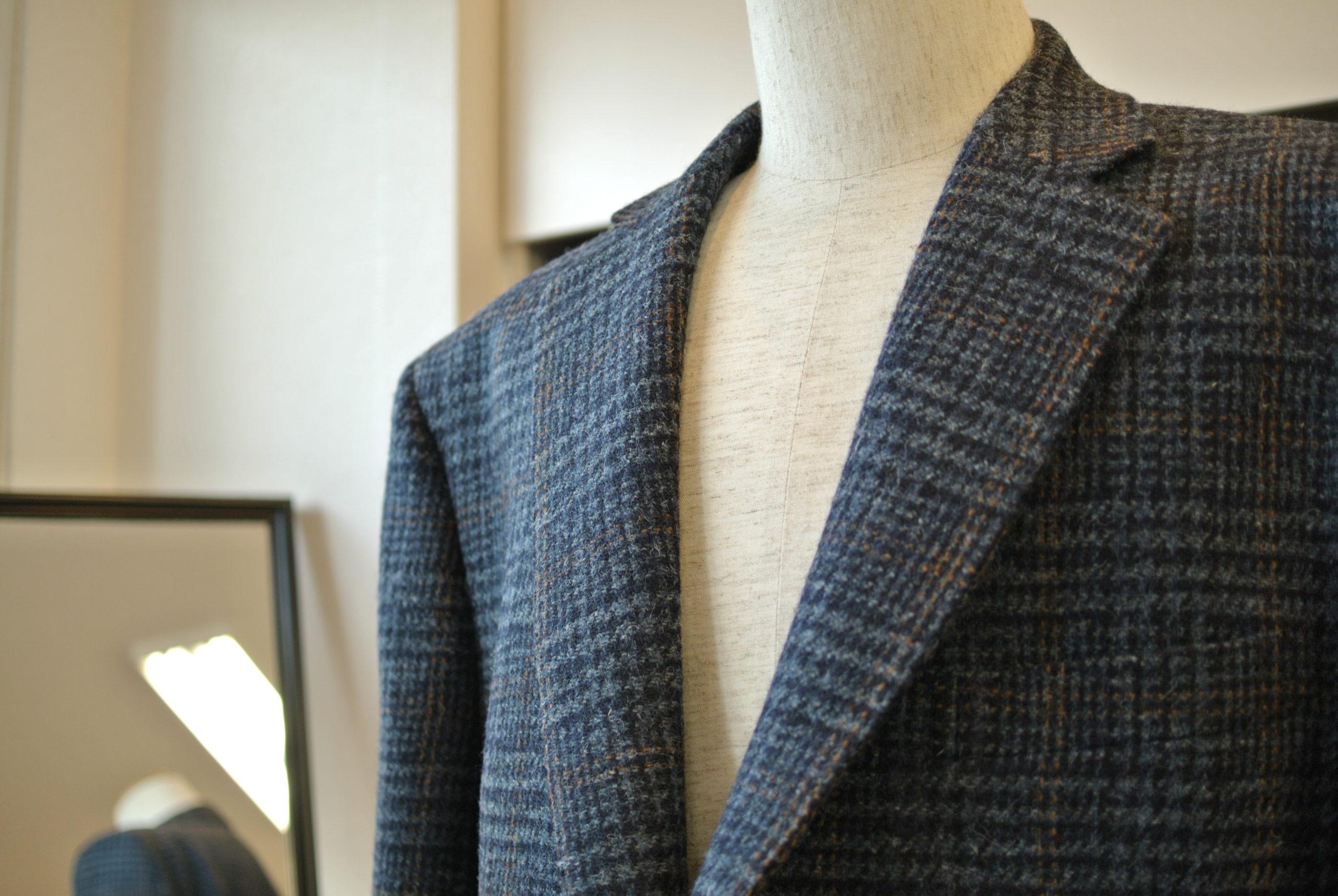 スコットランドが織りなす風合い新柄ハリスツイードのジャケットお仕立て オーダーサロン アスター 千葉・佐倉市うすい 八千代市・村上